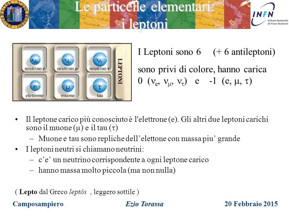 Le particelle elementari: i leptoni