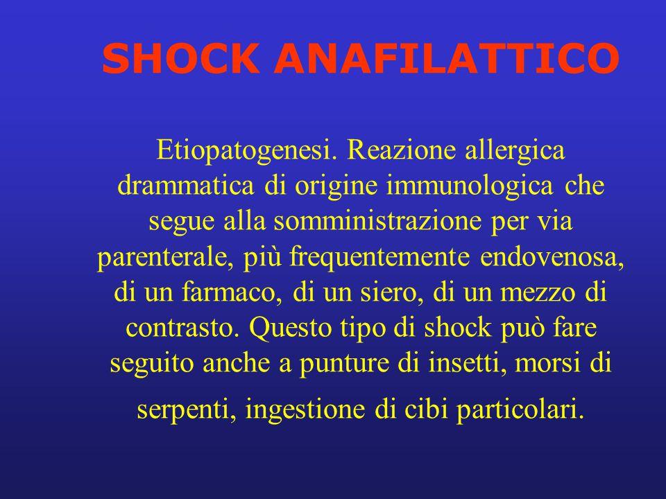 SHOCK ANAFILATTICO Etiopatogenesi
