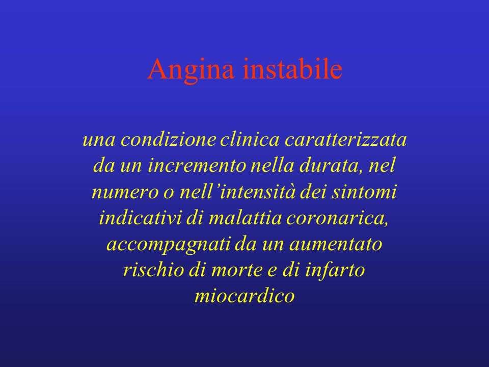 Angina instabile