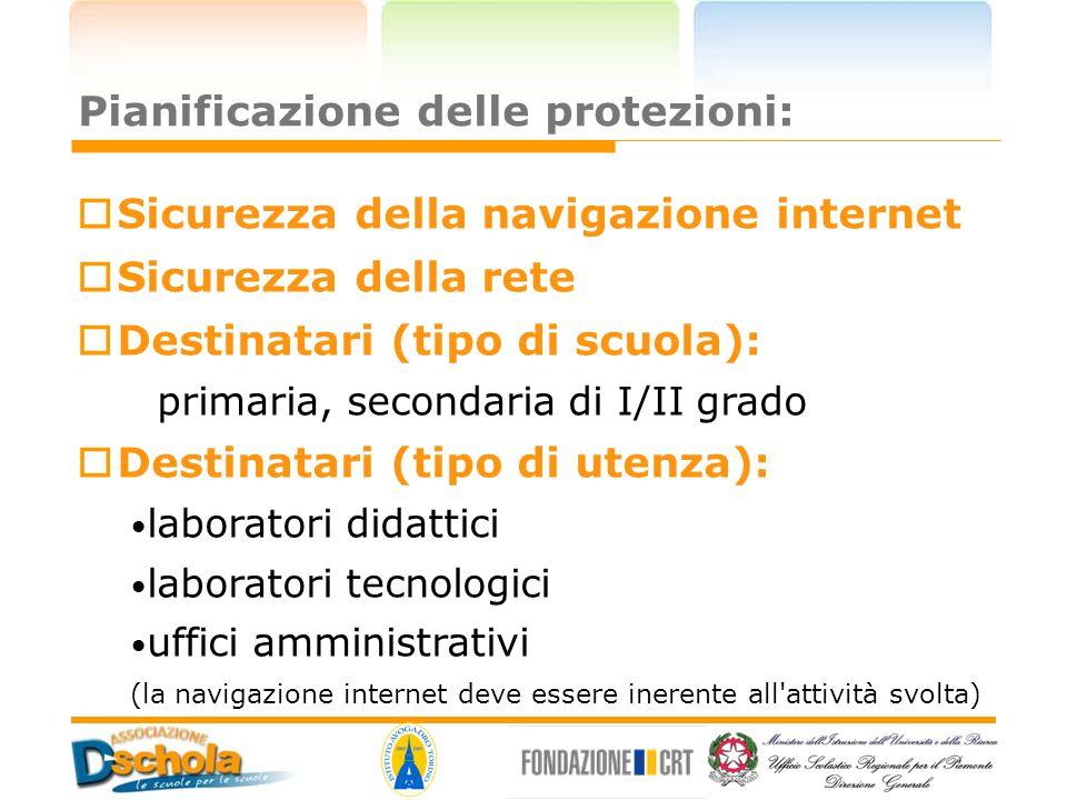 Pianificazione delle protezioni: