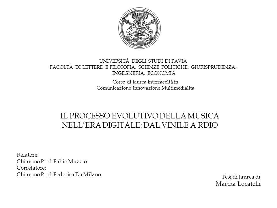 IL PROCESSO EVOLUTIVO DELLA MUSICA