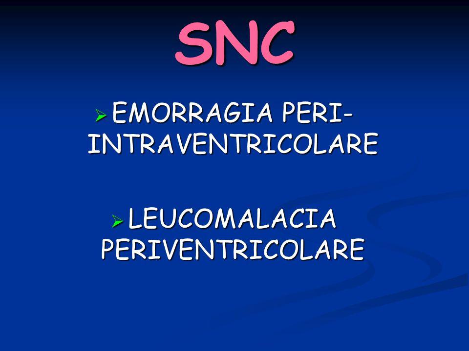SNC EMORRAGIA PERI-INTRAVENTRICOLARE LEUCOMALACIA PERIVENTRICOLARE