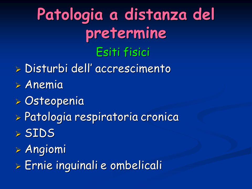 Patologia a distanza del pretermine