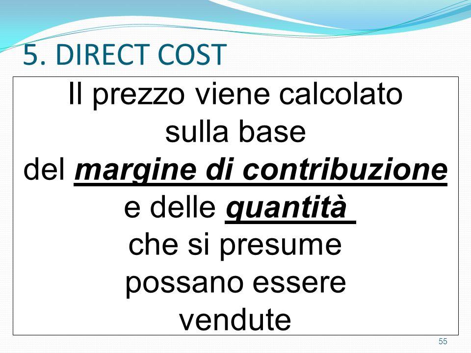 5. DIRECT COST Il prezzo viene calcolato sulla base