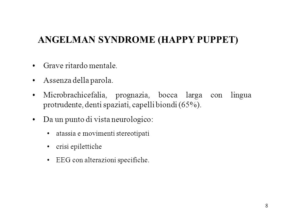 ANGELMAN SYNDROME (HAPPY PUPPET)