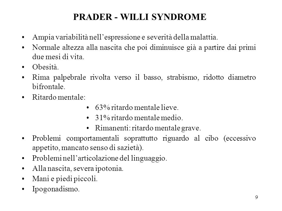 PRADER - WILLI SYNDROME