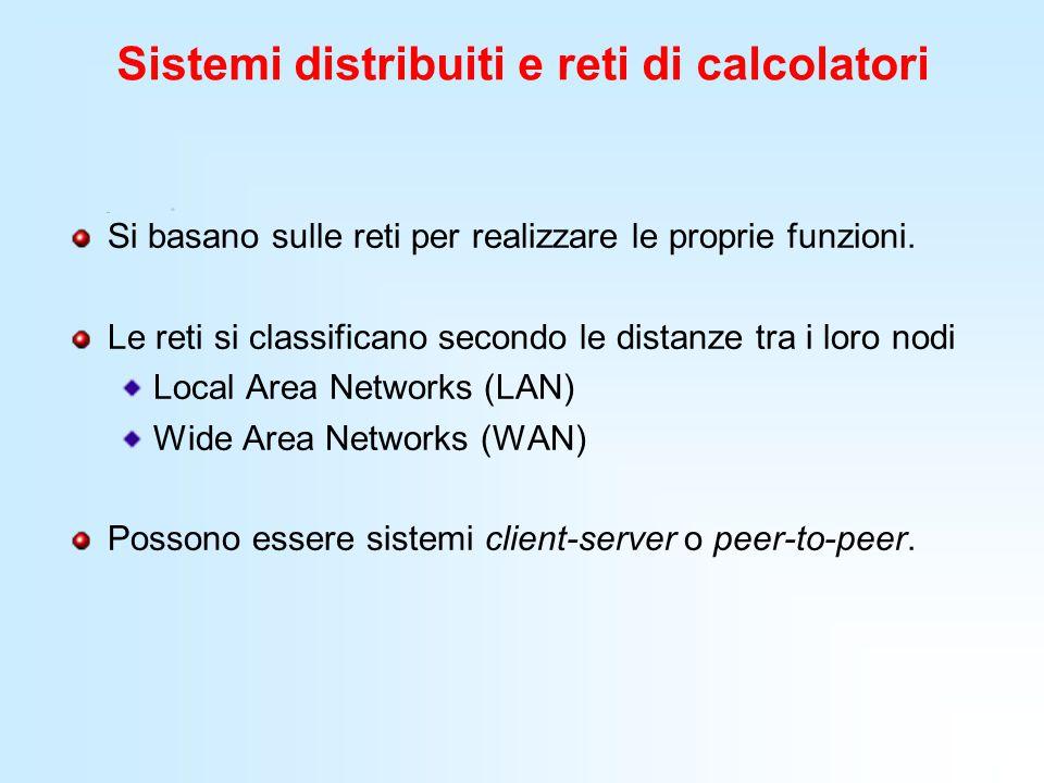 Sistemi distribuiti e reti di calcolatori