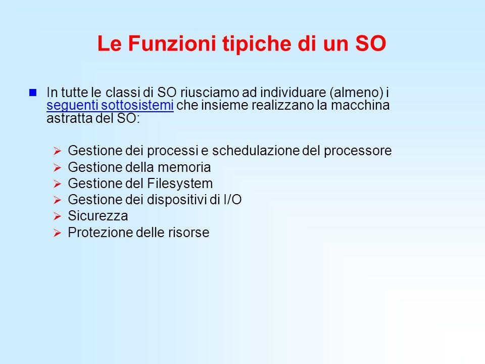 Le Funzioni tipiche di un SO