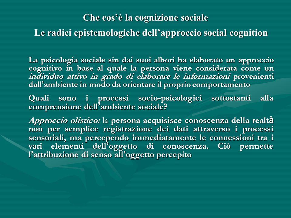 Che cos'è la cognizione sociale