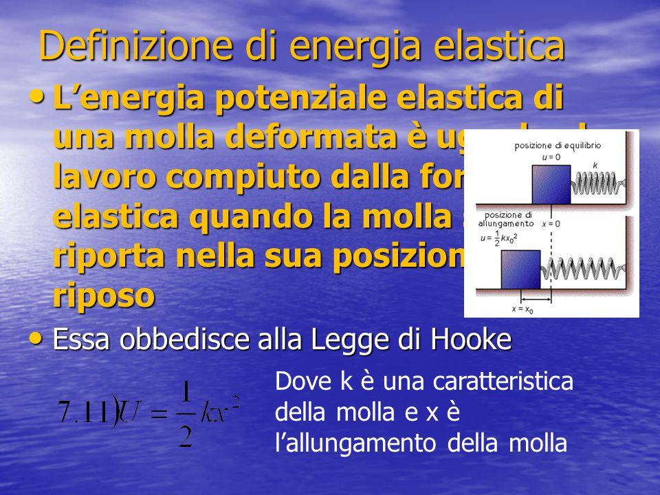 Definizione di energia elastica