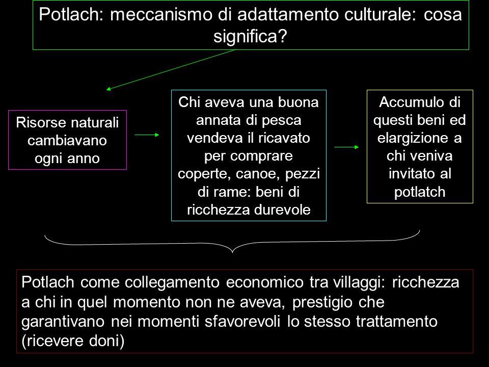 Potlach: meccanismo di adattamento culturale: cosa significa