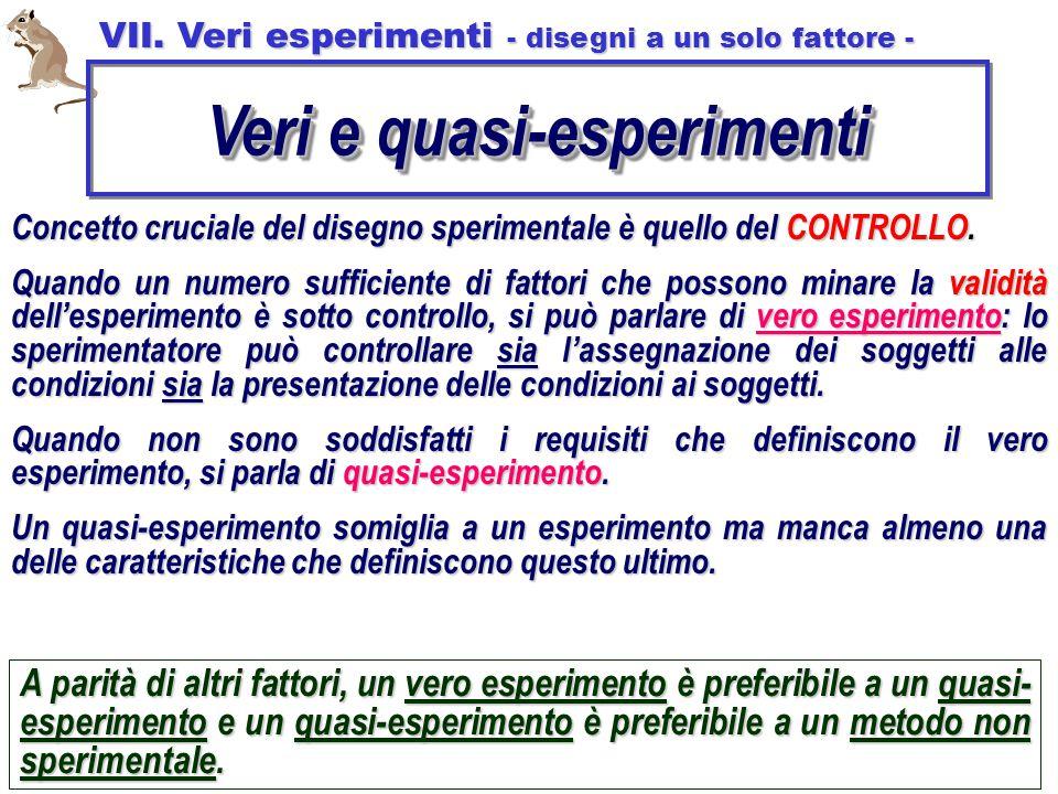 Veri e quasi-esperimenti