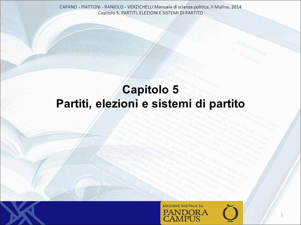 Capitolo 5 Partiti, elezioni e sistemi di partito
