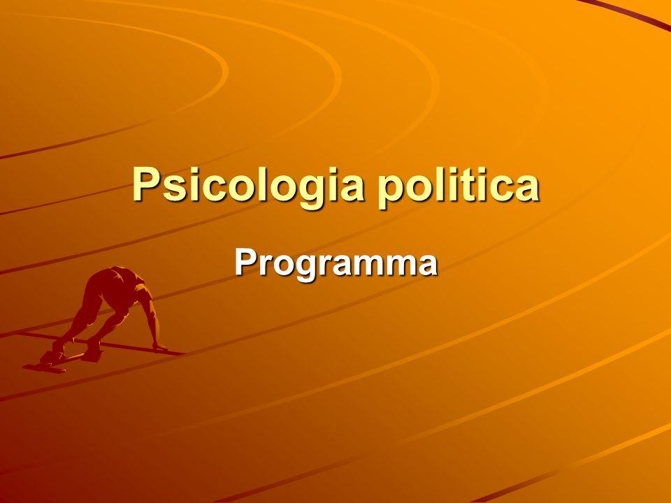 Psicologia politica Programma