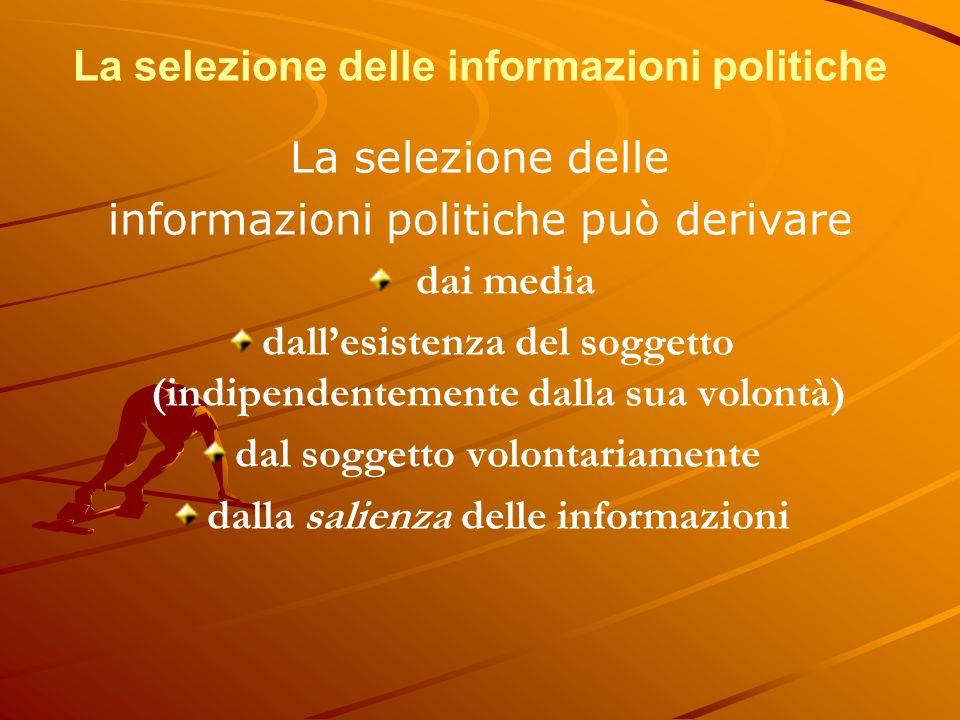 La selezione delle informazioni politiche