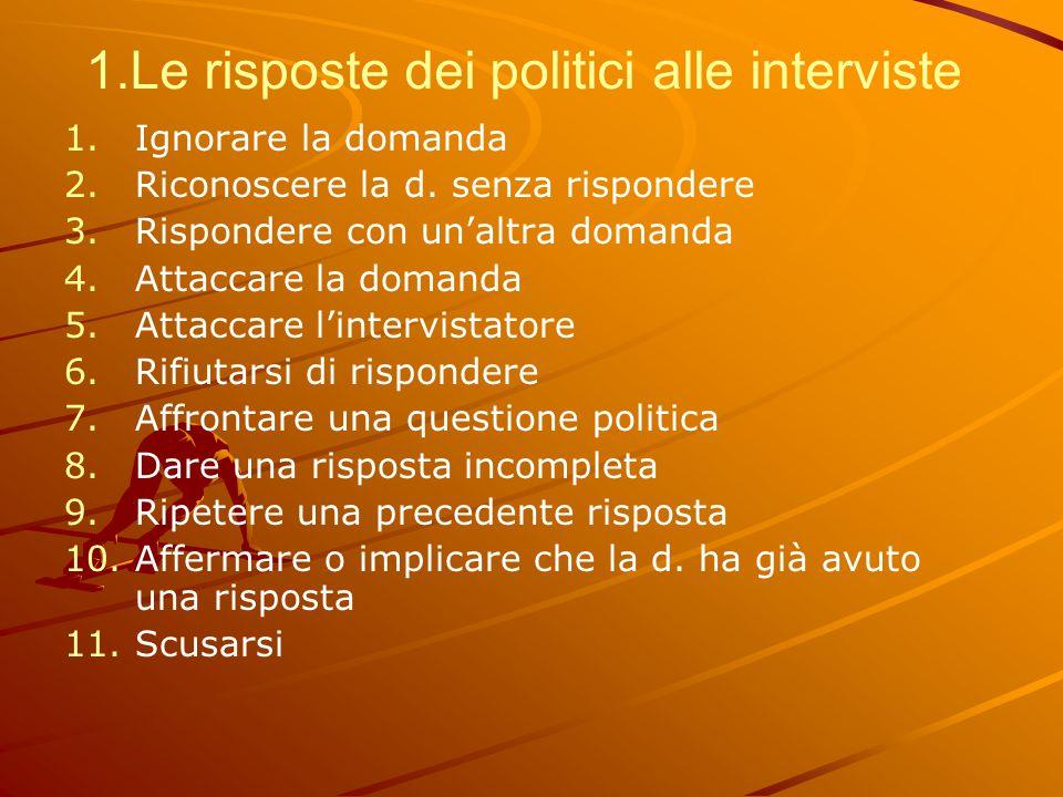1.Le risposte dei politici alle interviste