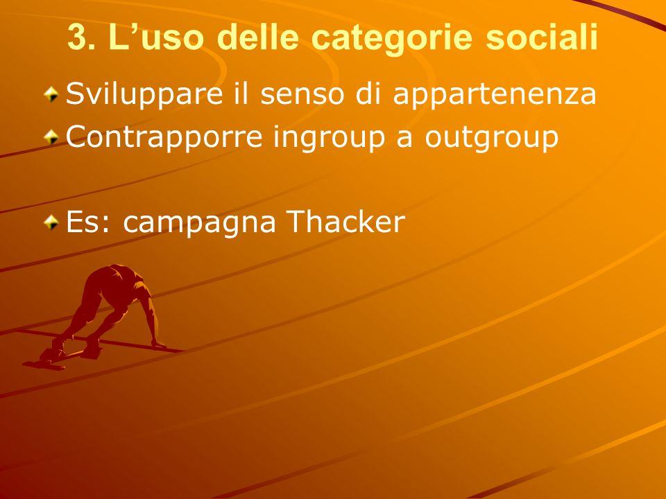 3. L'uso delle categorie sociali