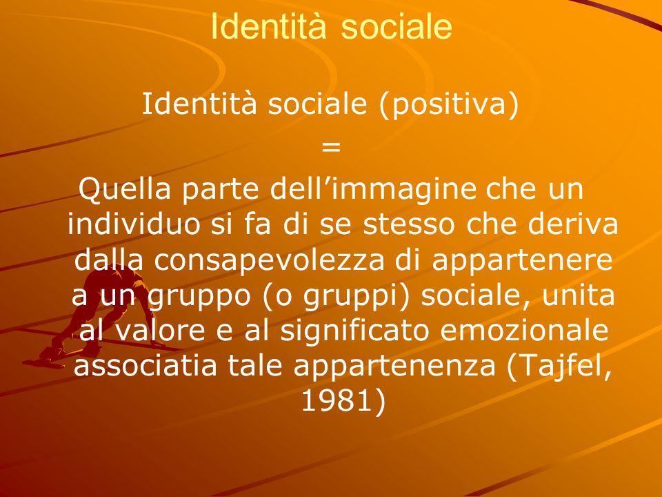 Identità sociale (positiva)