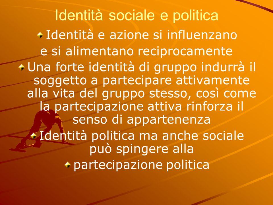 Identità sociale e politica