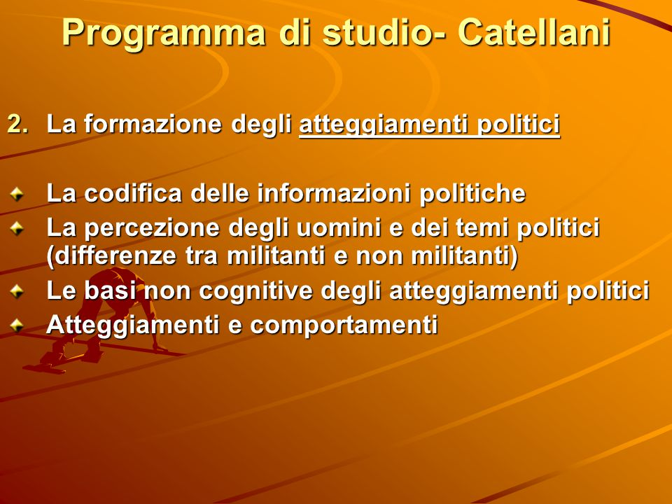 Programma di studio- Catellani