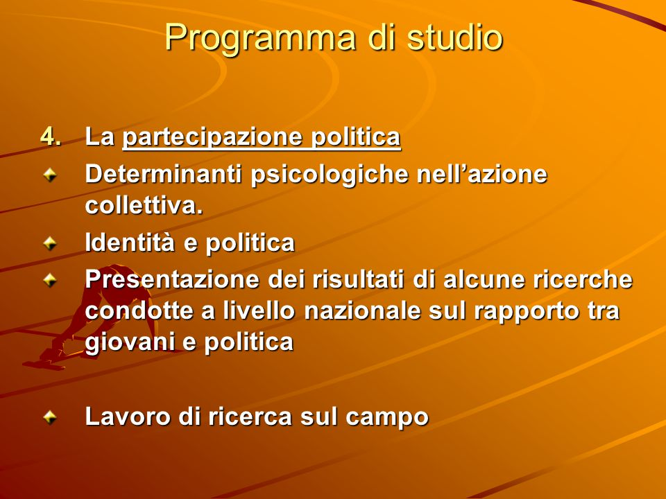Programma di studio La partecipazione politica