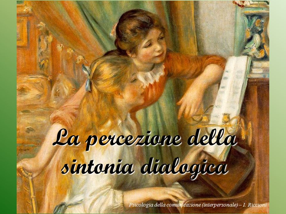 La percezione della sintonia dialogica