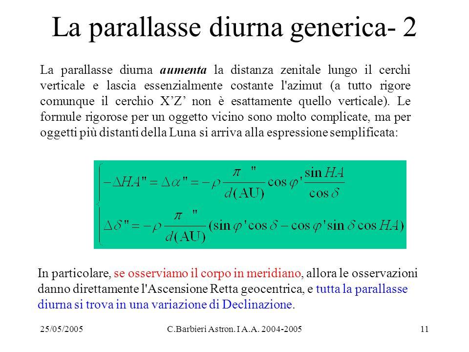 La parallasse diurna generica- 2