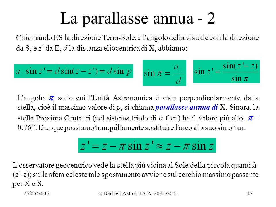 La parallasse annua - 2