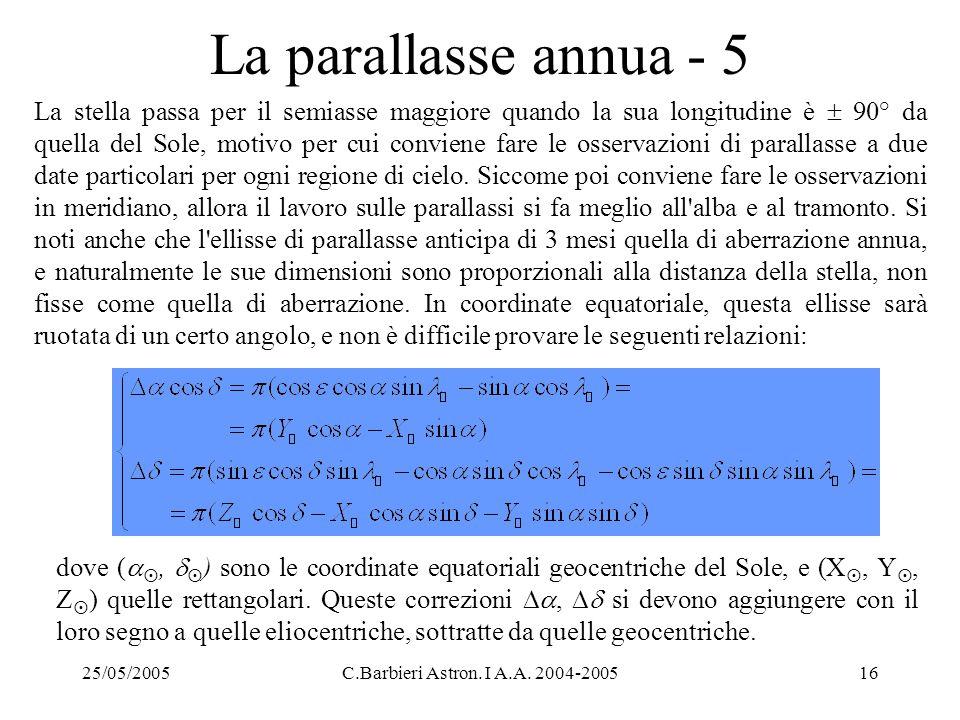 La parallasse annua - 5