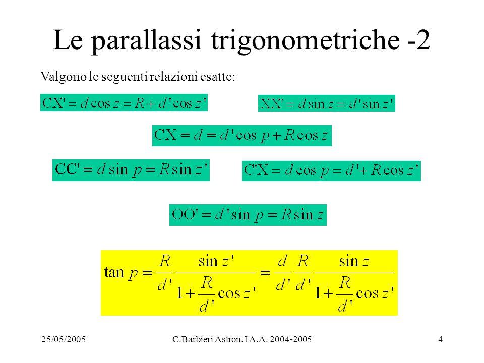 Le parallassi trigonometriche -2
