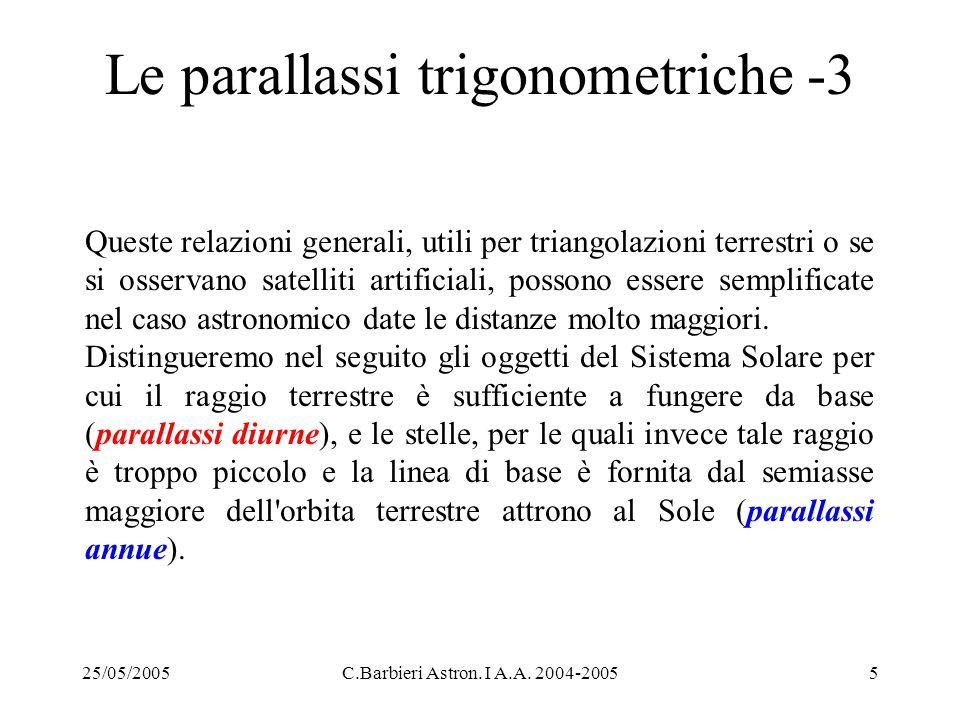 Le parallassi trigonometriche -3