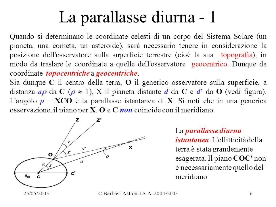La parallasse diurna - 1