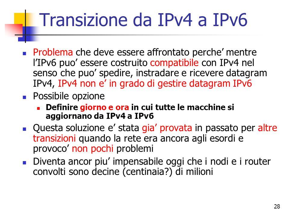 Transizione da IPv4 a IPv6