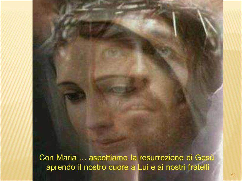 Con Maria … aspettiamo la resurrezione di Gesù