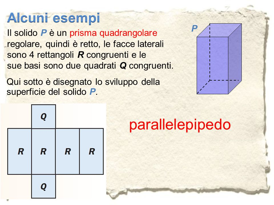 parallelepipedo Alcuni esempi P