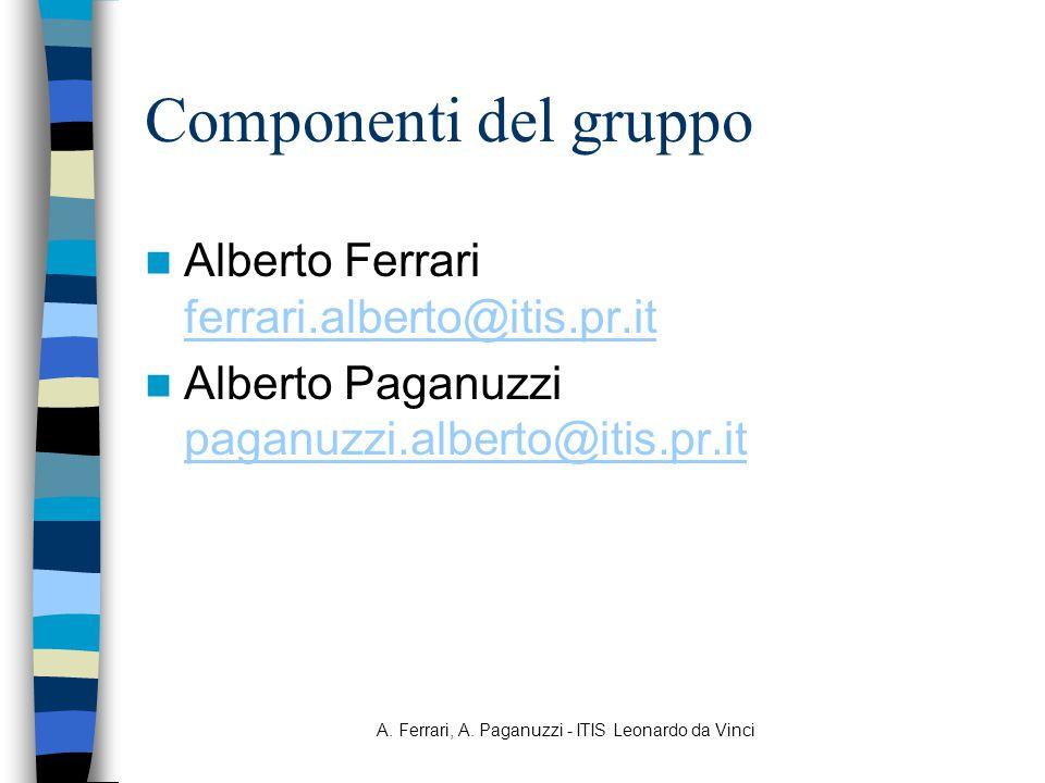 A. Ferrari, A. Paganuzzi - ITIS Leonardo da Vinci