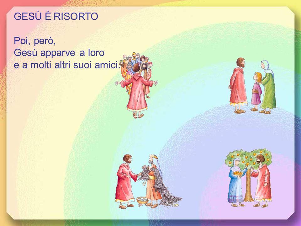 GESÙ È RISORTO Poi, però, Gesù apparve a loro e a molti altri suoi amici.