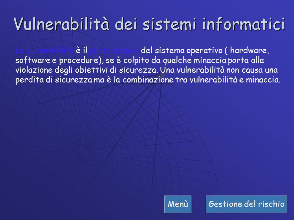 Vulnerabilità dei sistemi informatici