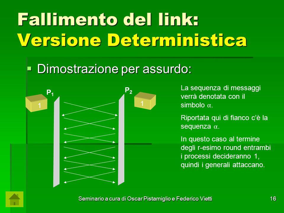 Fallimento del link: Versione Deterministica