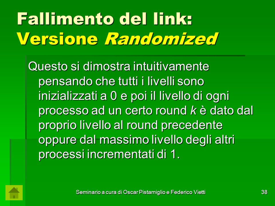 Fallimento del link: Versione Randomized