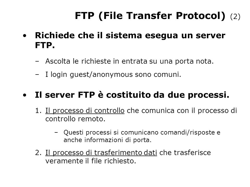 FTP (File Transfer Protocol) (2)