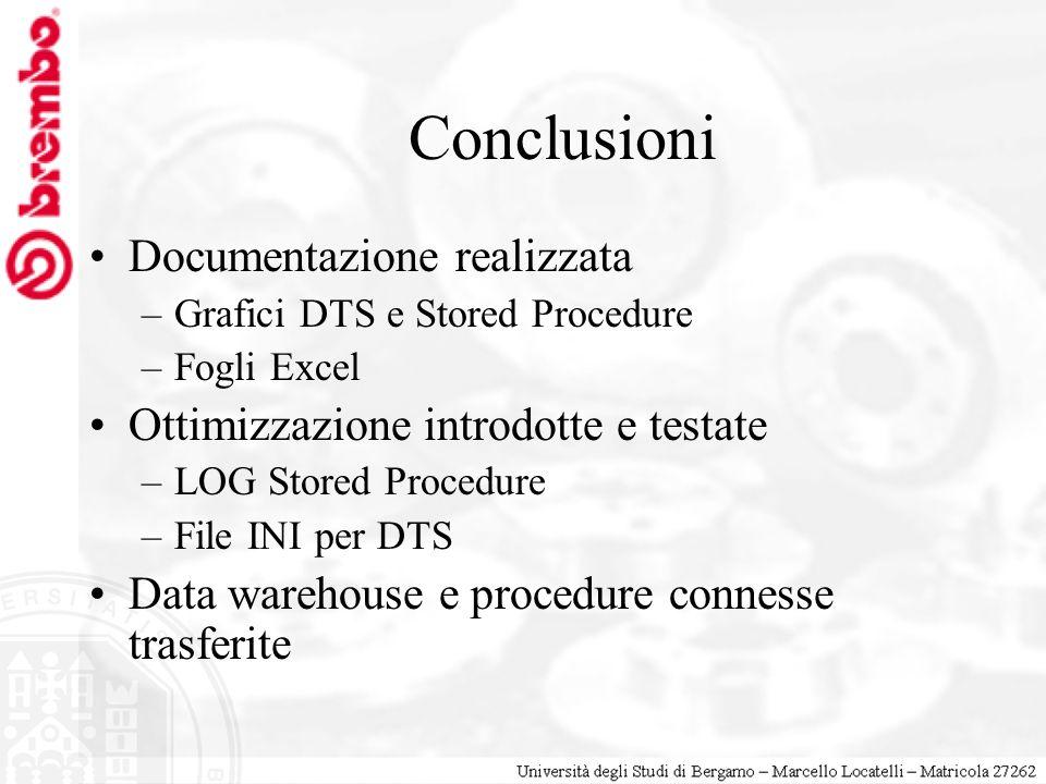 Conclusioni Documentazione realizzata