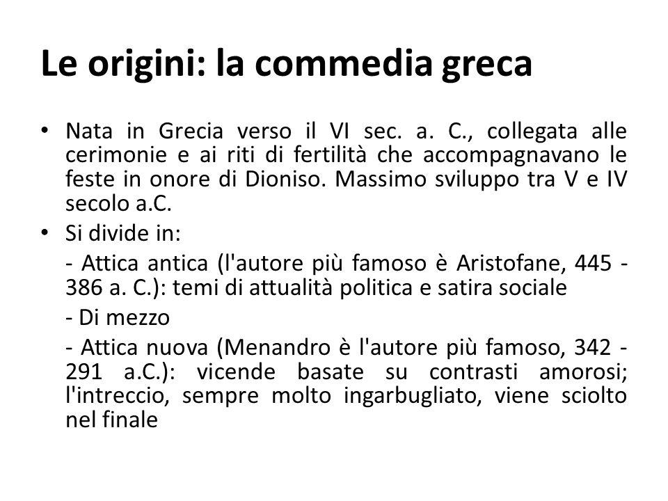 Le origini: la commedia greca