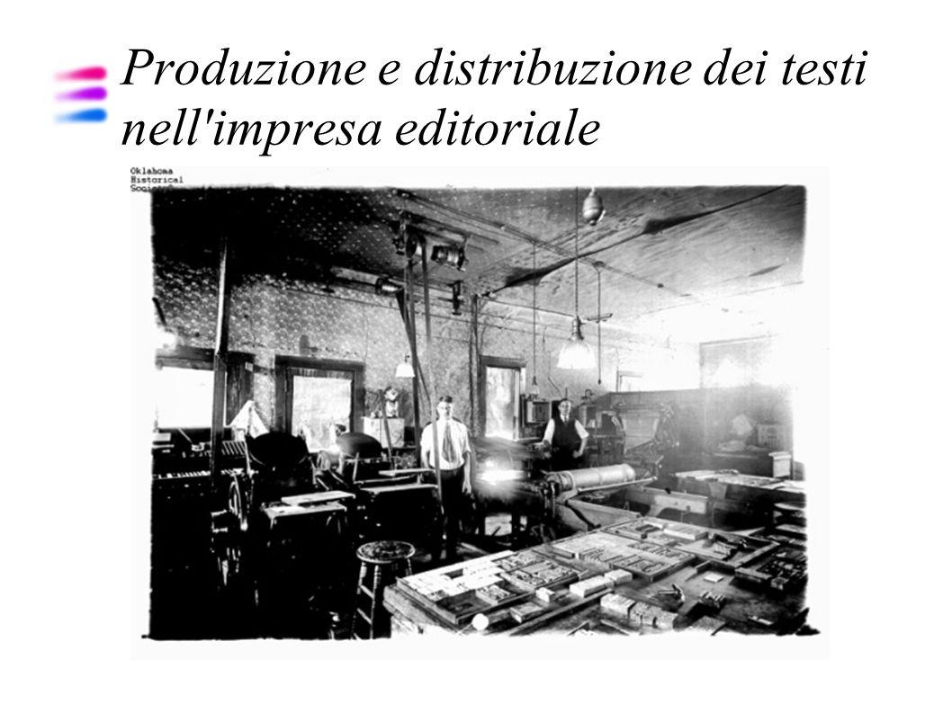 Produzione e distribuzione dei testi nell impresa editoriale