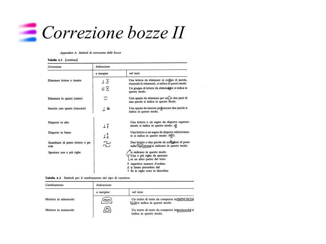 Correzione bozze II