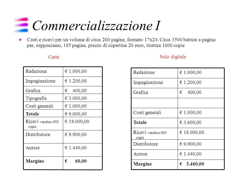 Commercializzazione I