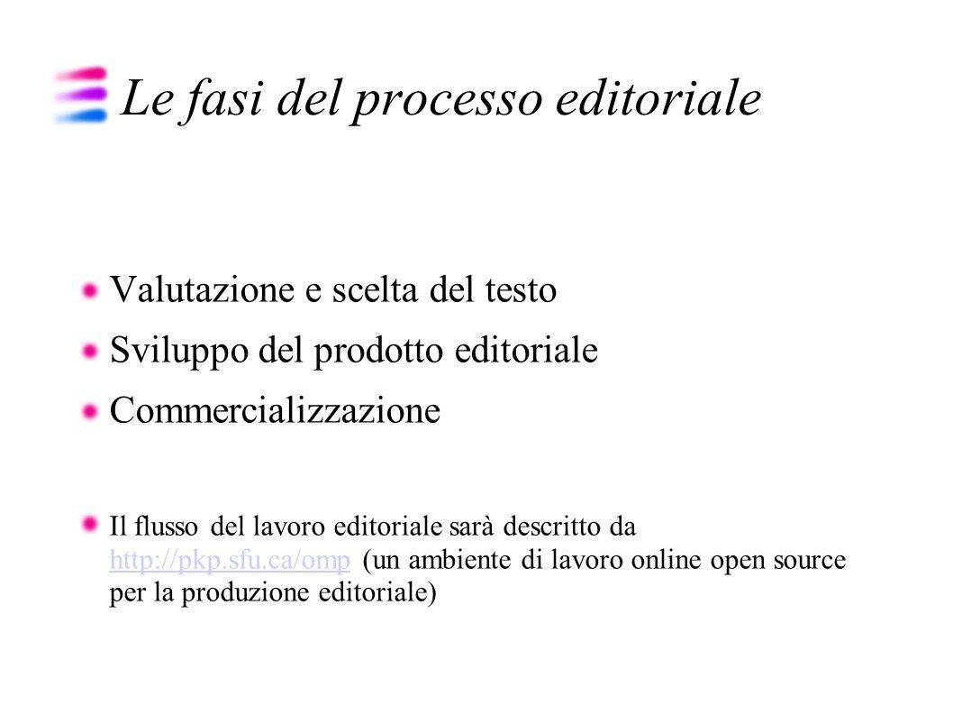 Le fasi del processo editoriale