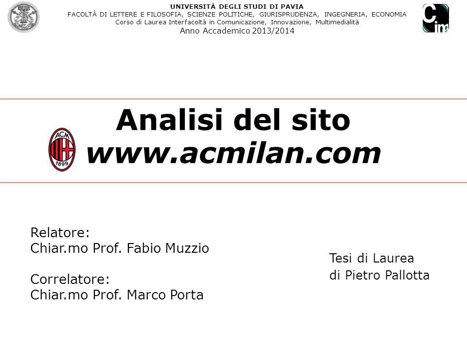 Analisi del sito www.acmilan.com