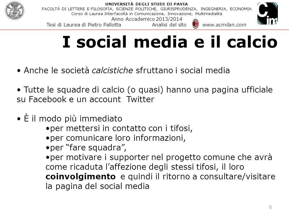 I social media e il calcio