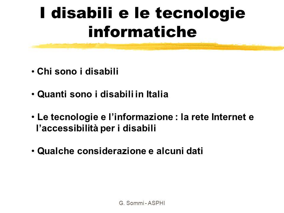 I disabili e le tecnologie informatiche